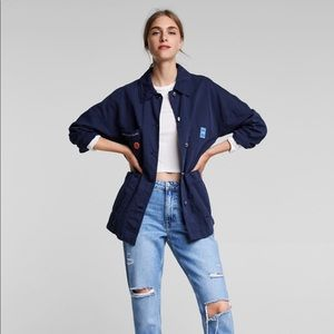 New Zara Basic  Space is the Place Patch Jacket